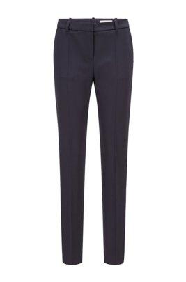 Slim-fit trousers in Italian virgin wool, Light Blue
