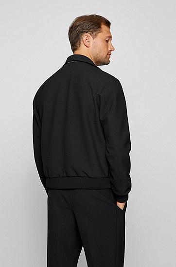 系列标签高性能面料修身夹克,  001_Black