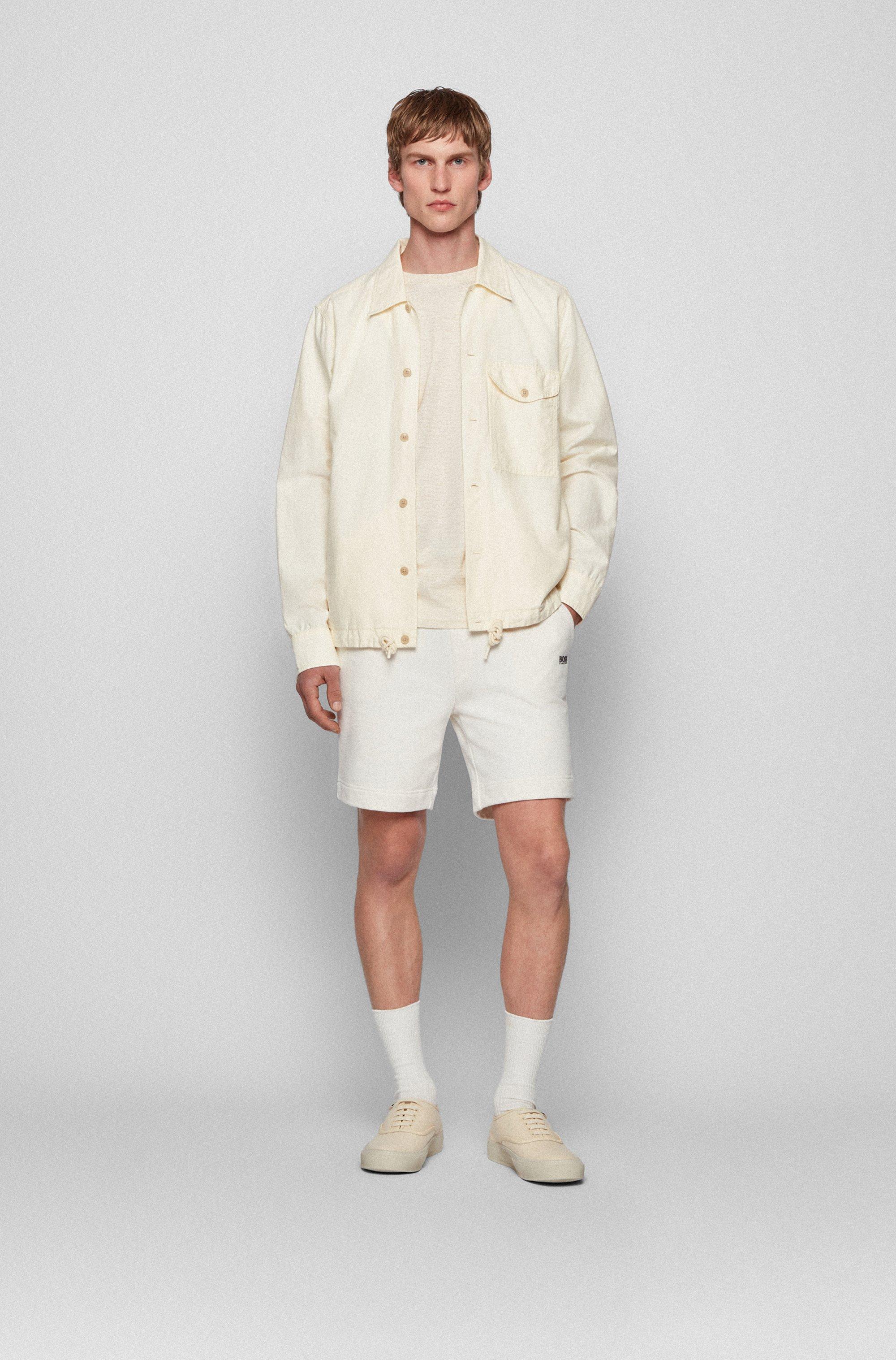 Contrast-logo shorts in an organic-cotton blend