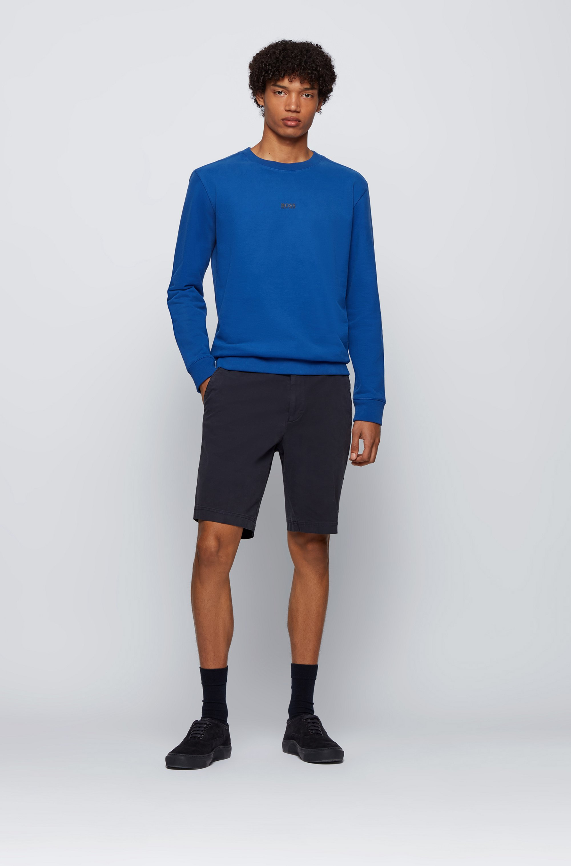 Relaxed-fit logo sweatshirt in an organic-cotton blend