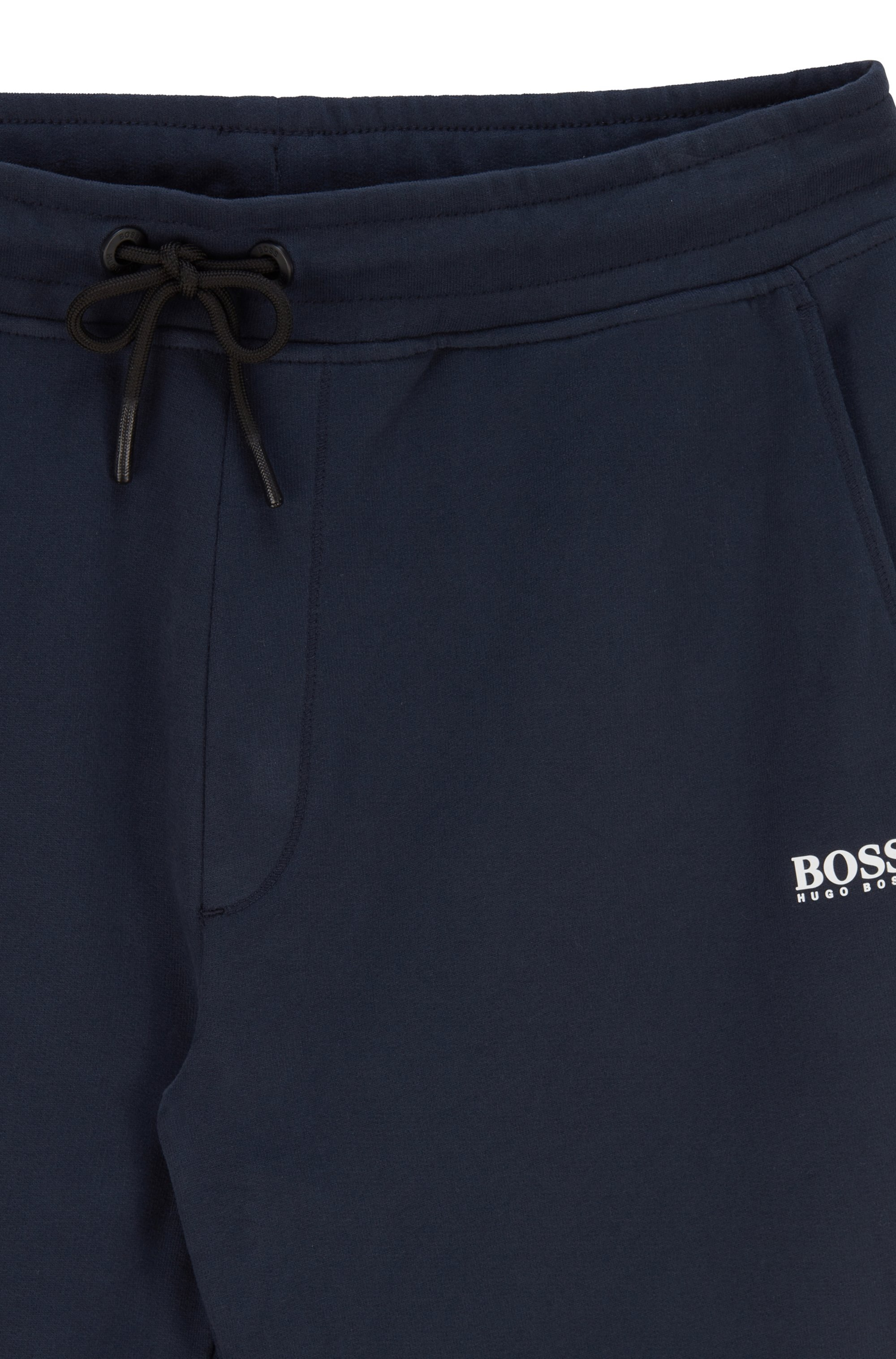 Regular-fit tracksuit bottoms in French terry with logo