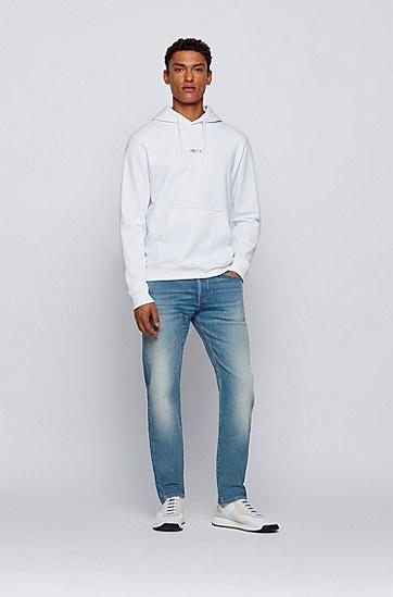 棉质混纺彩虹徽标中性连帽衫,  100_White