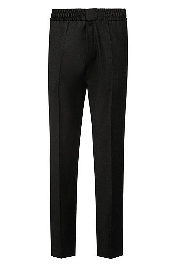 混色弹力羊毛修身长裤,  021_Dark Grey