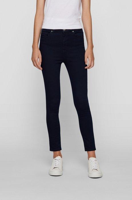 Super-skinny-fit jeans in navy ultra-stretch denim, Dark Blue