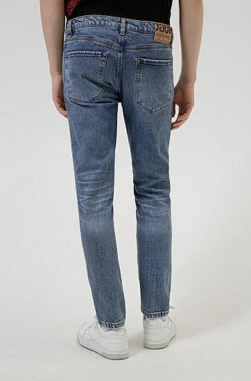 蓝色修身弹力牛仔裤,  430_Bright Blue