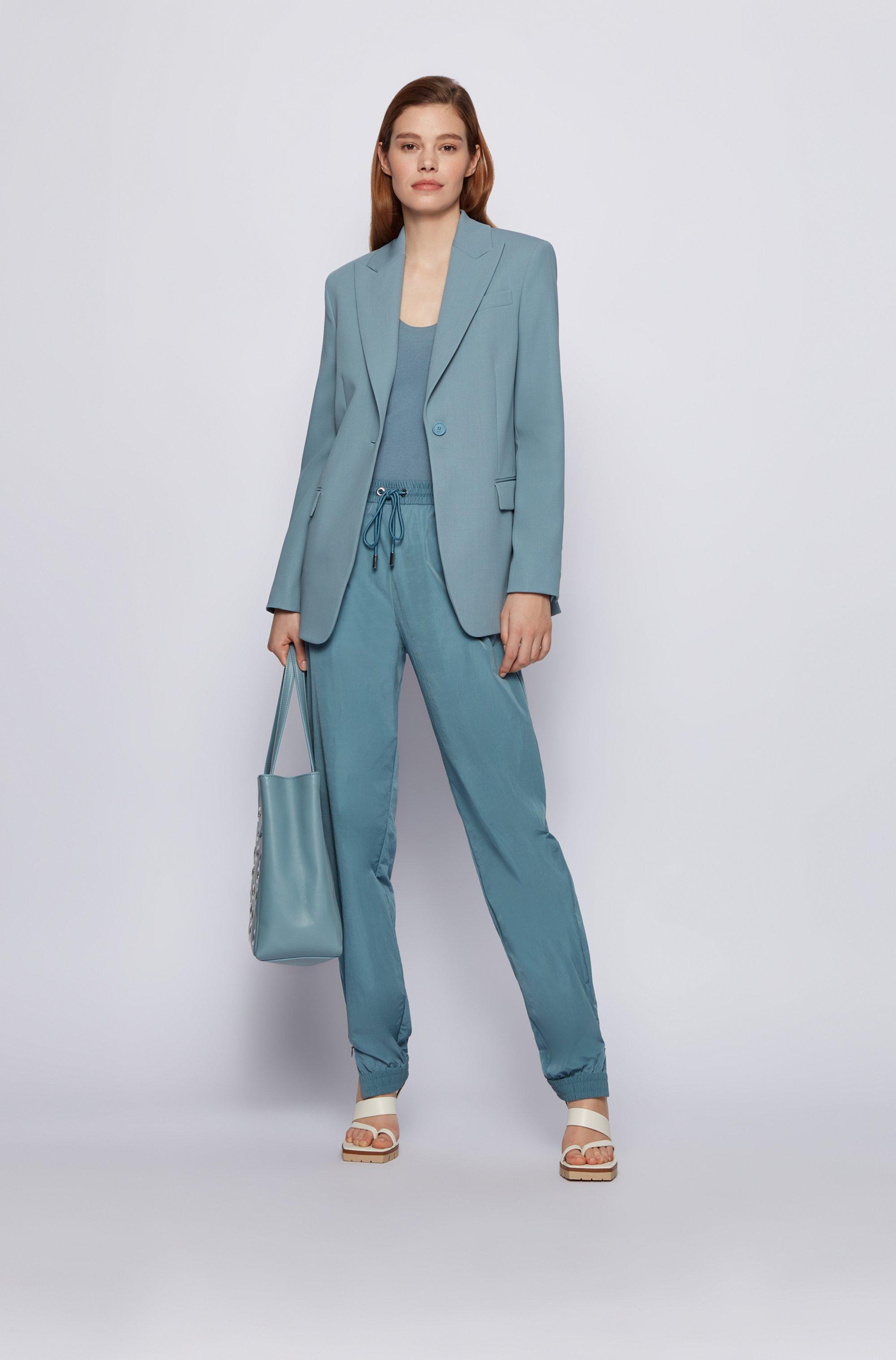 Relaxed-fit jacket in Italian virgin wool