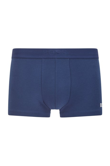Logo trunks in cotton, modal and stretch, Blue