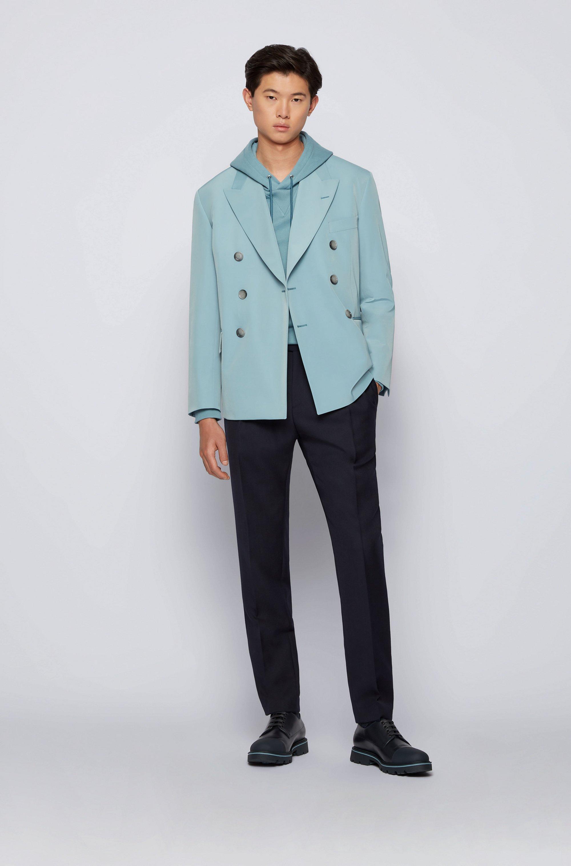 Double-breasted jacket in Italian twill