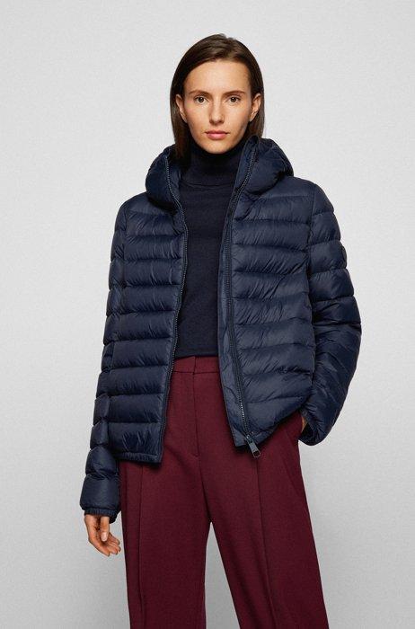 Super-lightweight packable down jacket in water-repellent fabric, Dark Blue