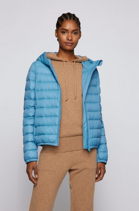 Super-lightweight packable down jacket in water-repellent fabric, Blue