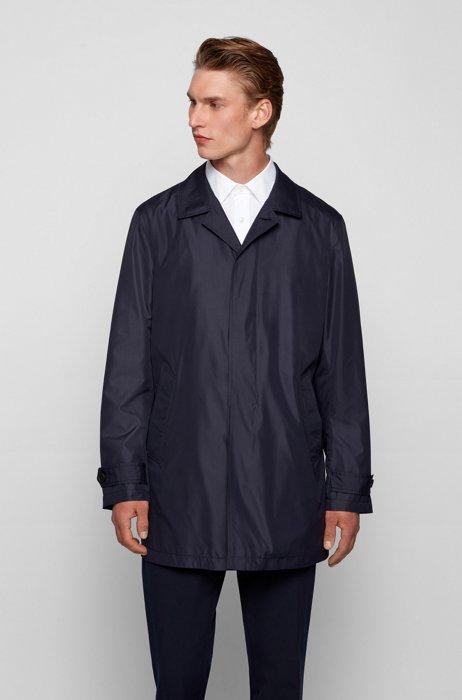 Water-repellent coat with packable construction, Dark Blue