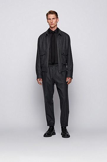 易烫棉混纺府绸修身衬衫,  001_Black