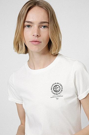 专属图标装饰修身 T 恤,  102_Natural