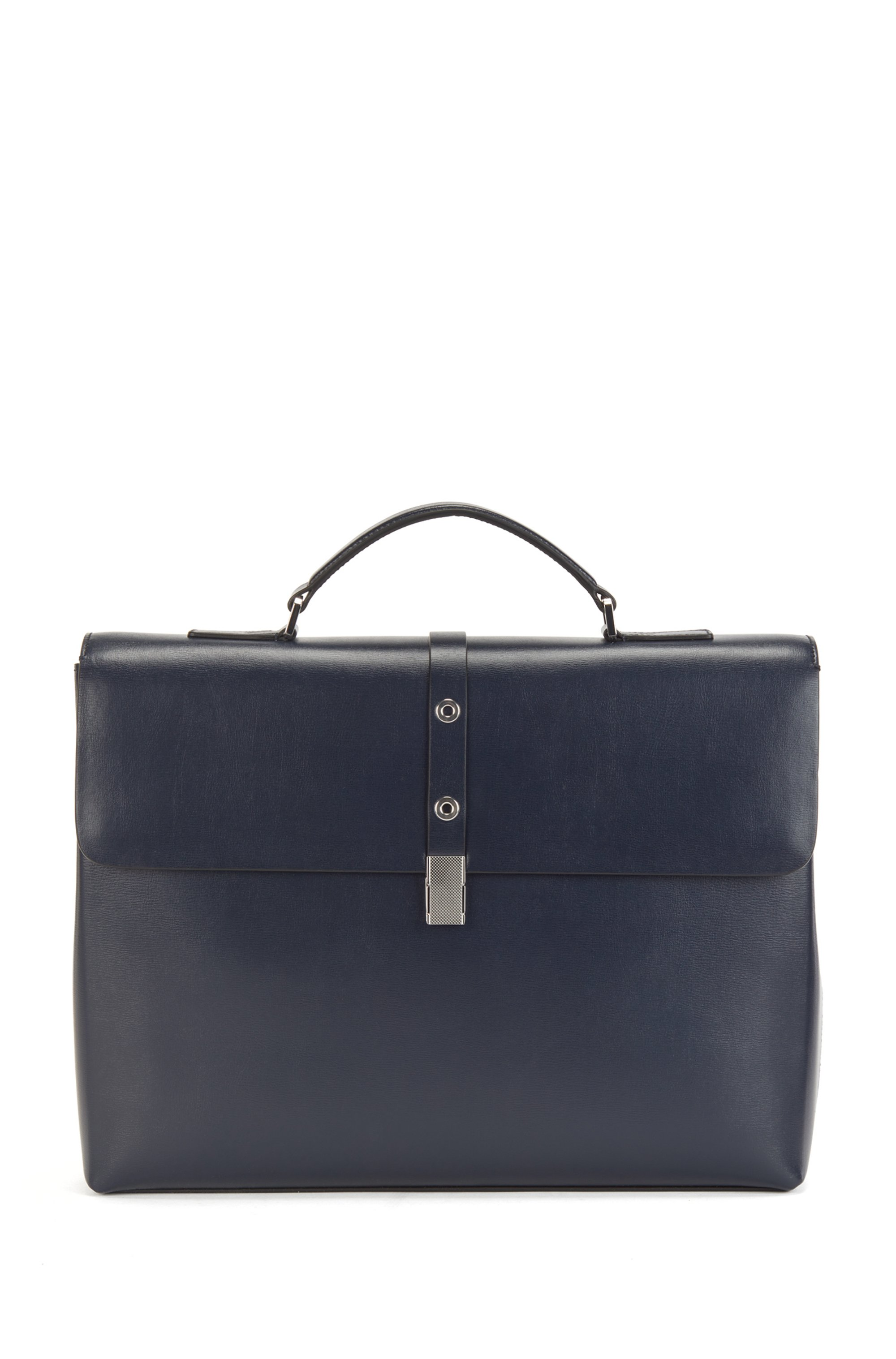 Document case in coated leather, Dark Blue