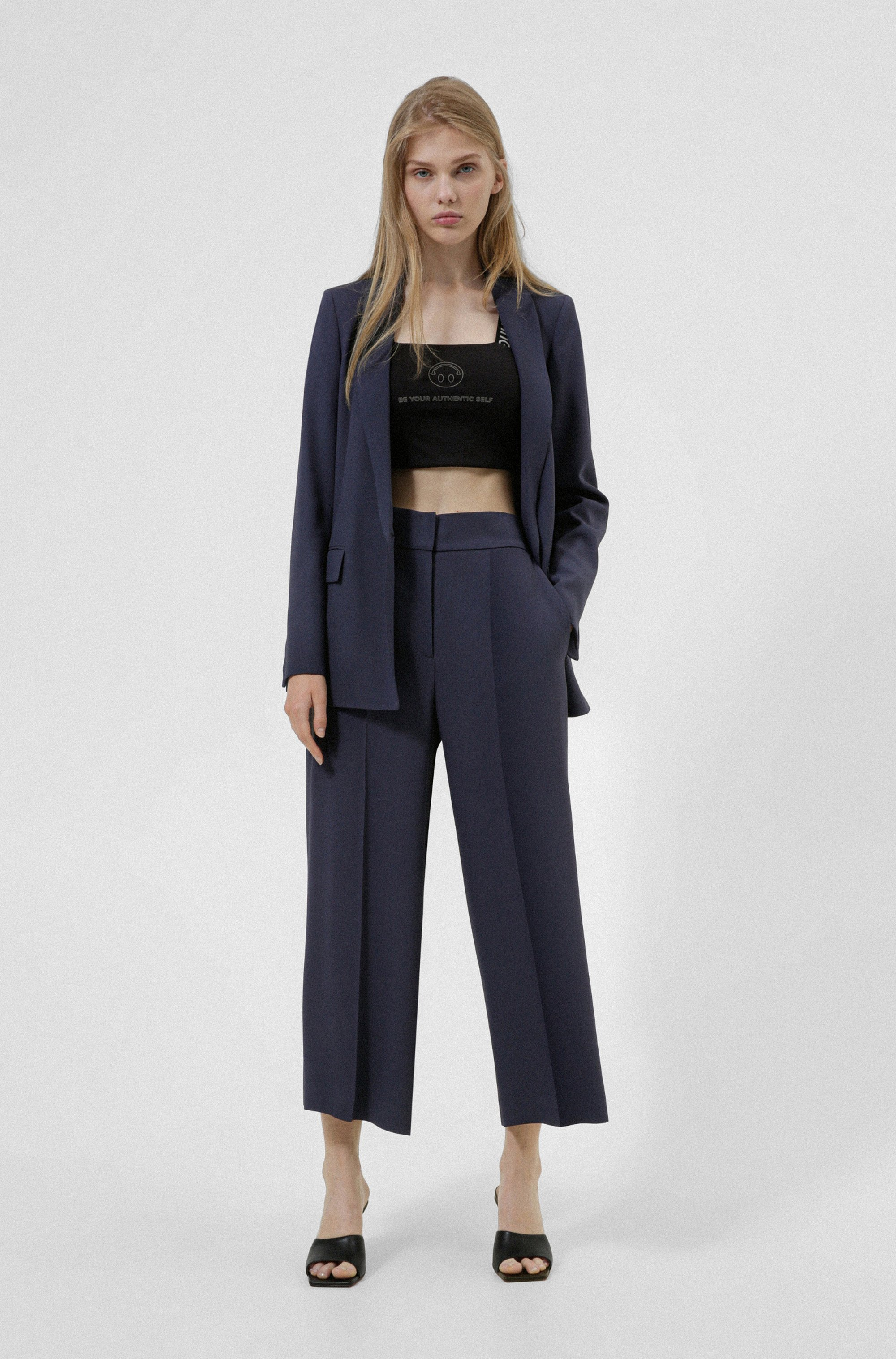 Relaxed-fit jacket with shawl lapels