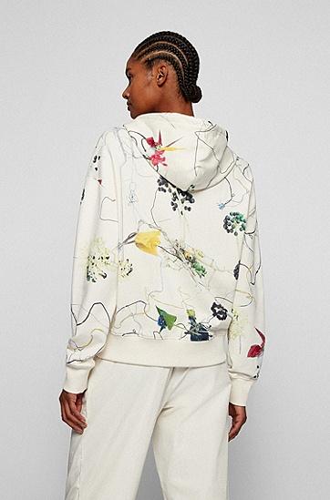 花卉印花法国毛圈布常规版连帽衫,  960_Open Miscellaneous