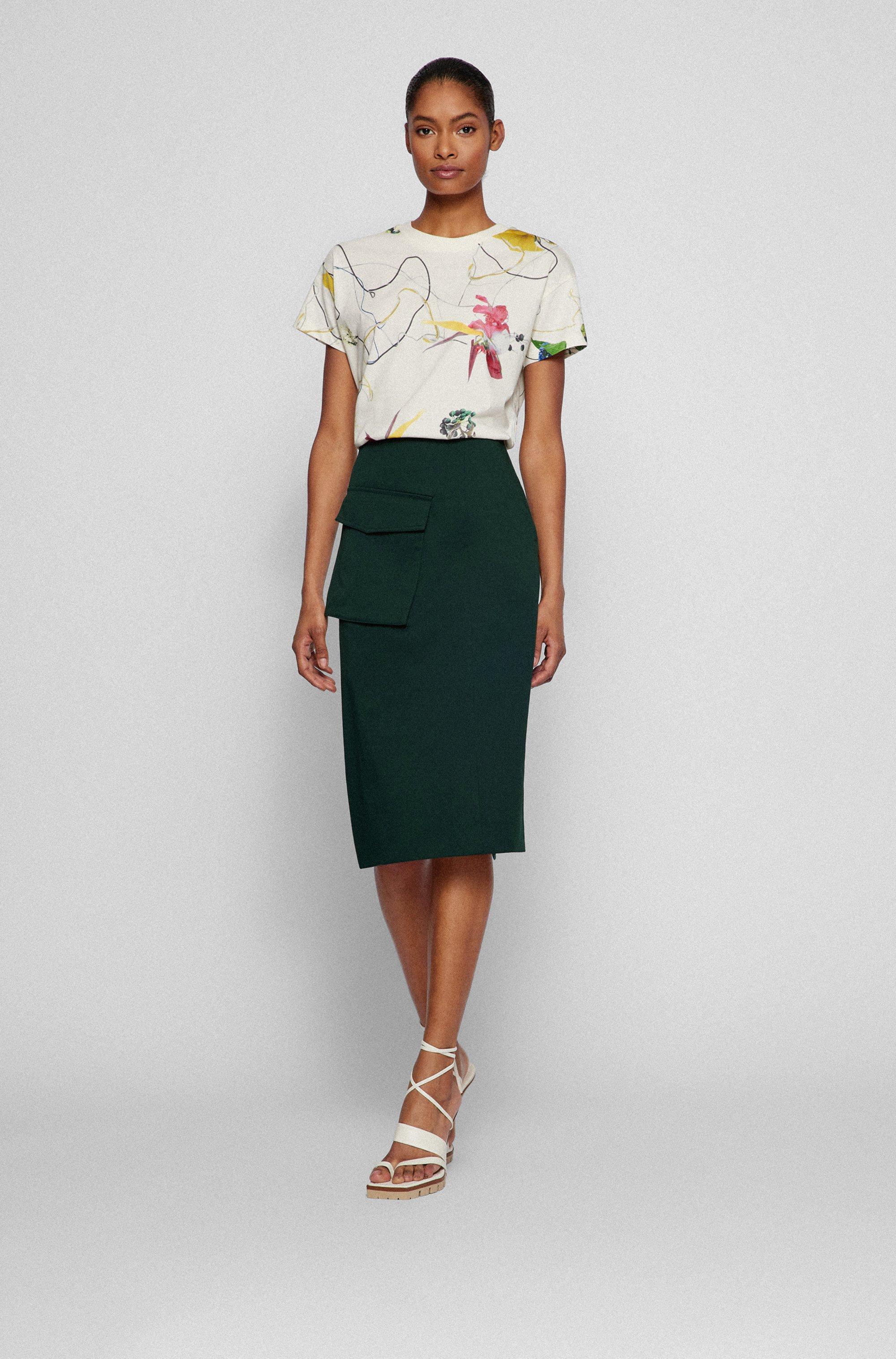 Regular-Fit T-Shirt aus Baumwoll-Jersey mit Blumen-Print