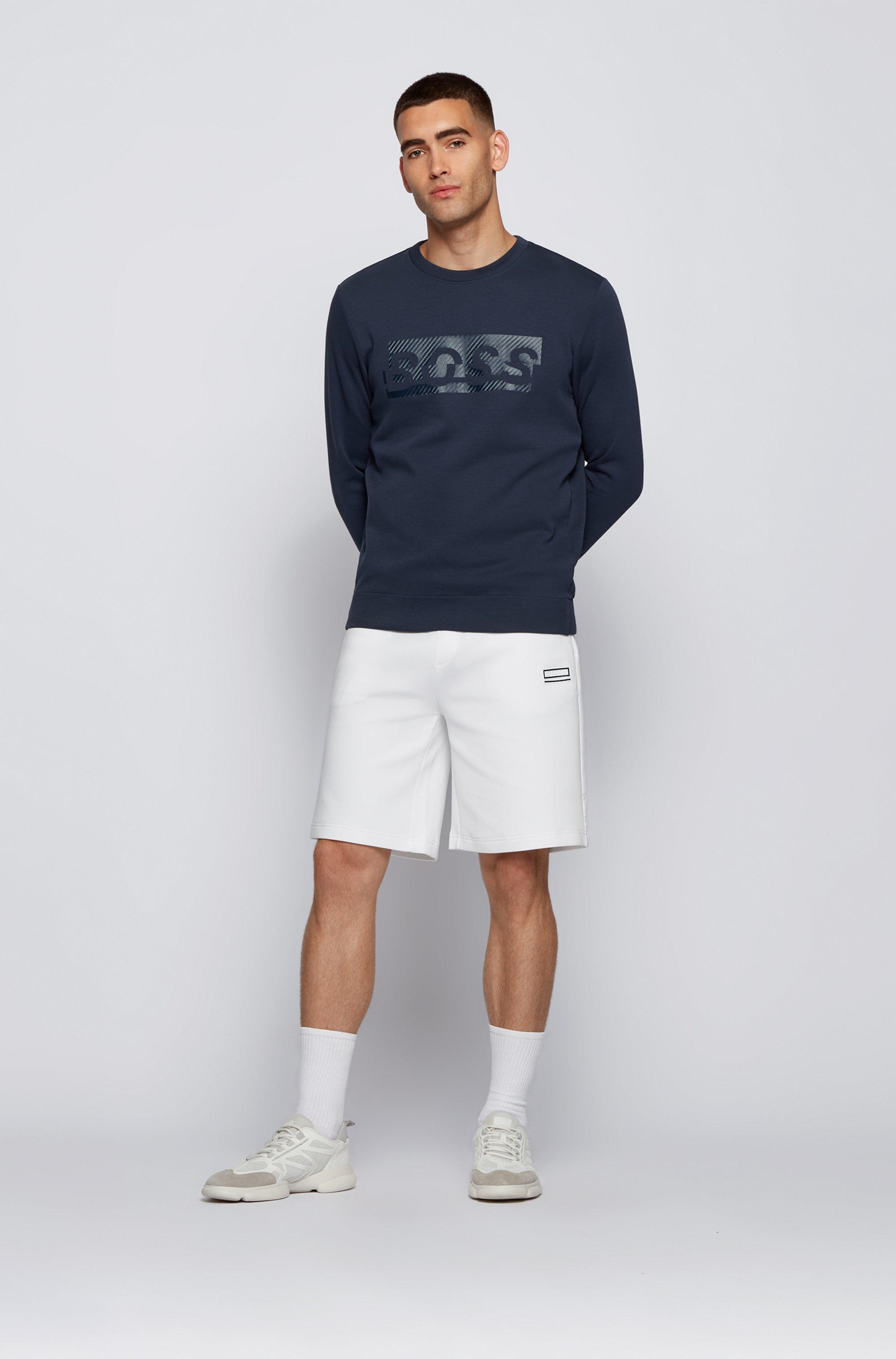 Slim-fit sweatshirt with carbon-effect printed logo