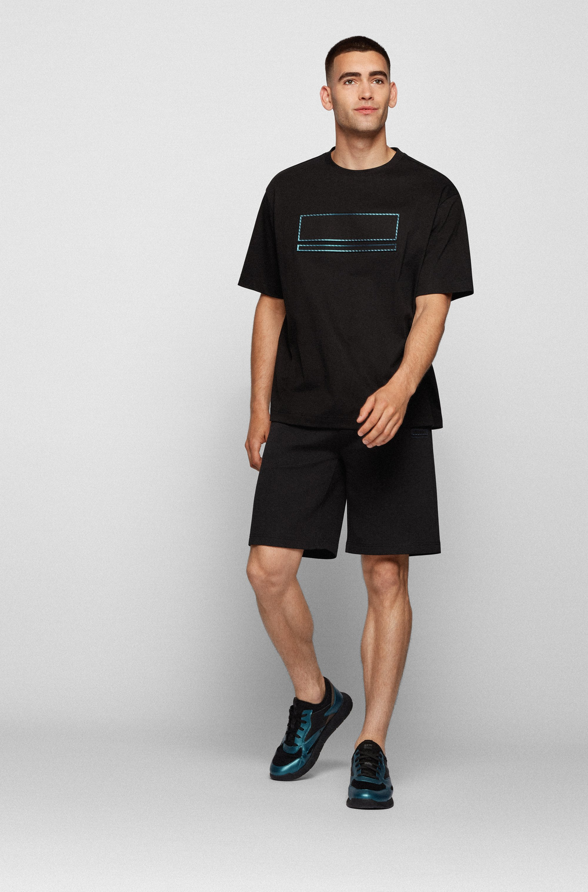 Relaxed-fit shorts with embroidered logo