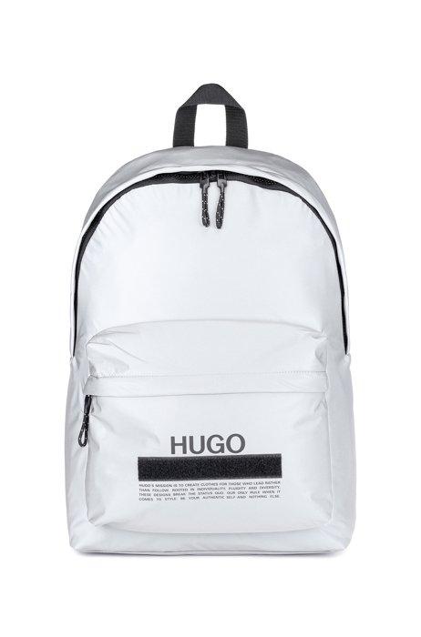 Manifesto-logo backpack in soft nylon, Silver