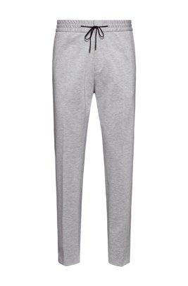 Extra Slim-Fit Hose aus Stretch-Jersey mit Tunnelzugbund, Hellgrau
