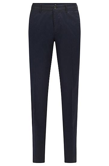 弹力棉斜纹棉布裤,  402_Dark Blue