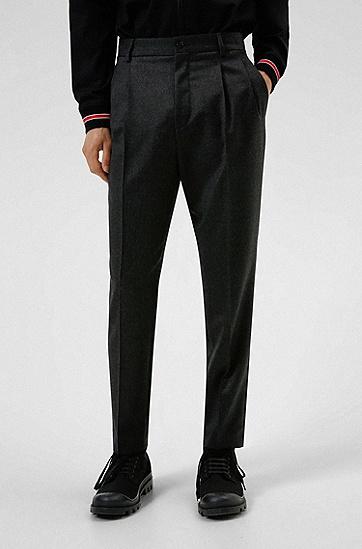 弹力初剪羊毛修身长裤,  021_Dark Grey
