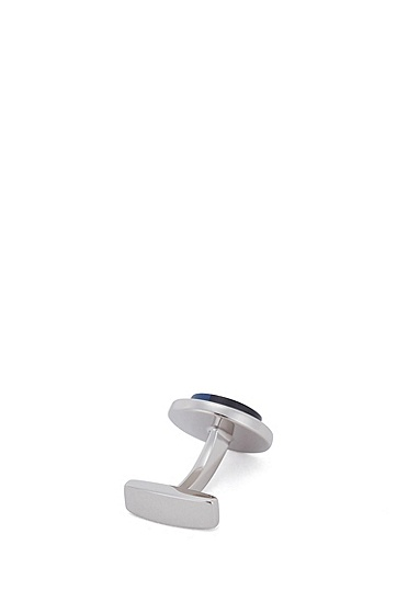 浮雕珐琅嵌饰徽标袖扣,  420_Medium Blue