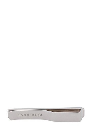 蚀刻徽标黄铜领带夹,  040_Silver