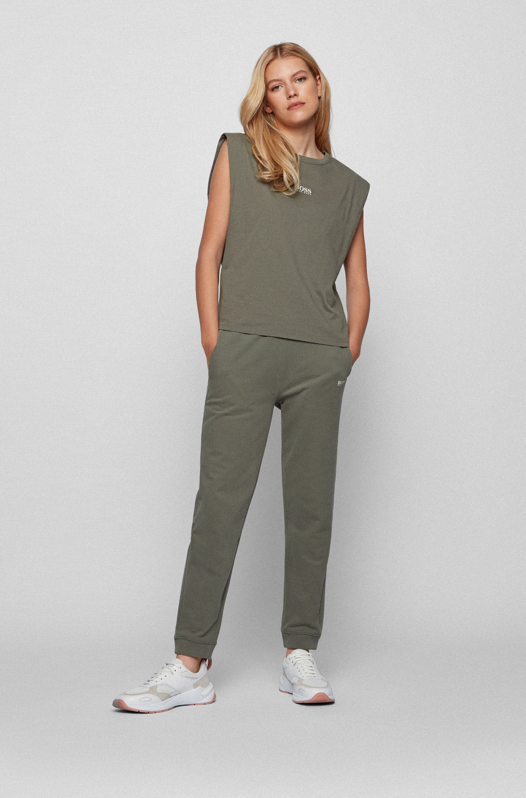 Relaxed-fit organic-cotton T-shirt with sleeveless styling