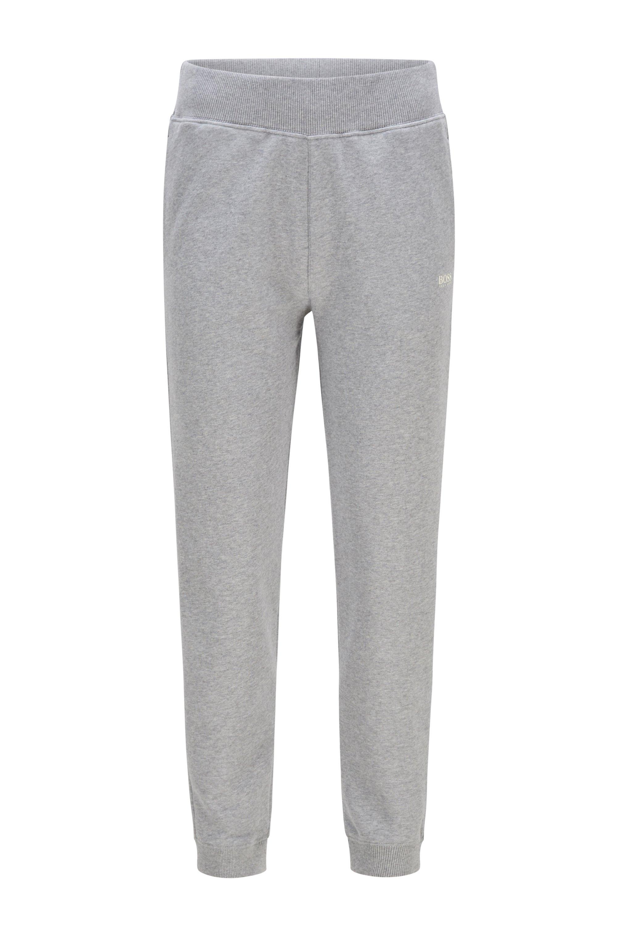 Pantaloni della tuta regular fit in french terry di misto cotone, Argento