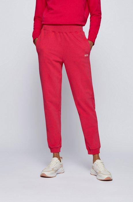 Pantaloni della tuta regular fit in french terry di misto cotone, Rosa