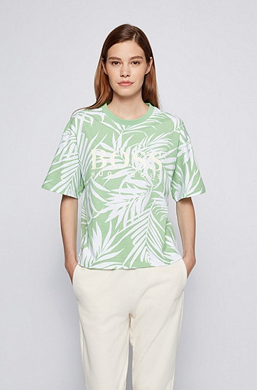 系列主题图案徽标棉 T 恤,  972_多色