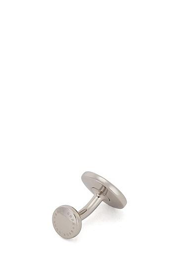 彩色珐琅条纹袖扣,  030_Medium Grey
