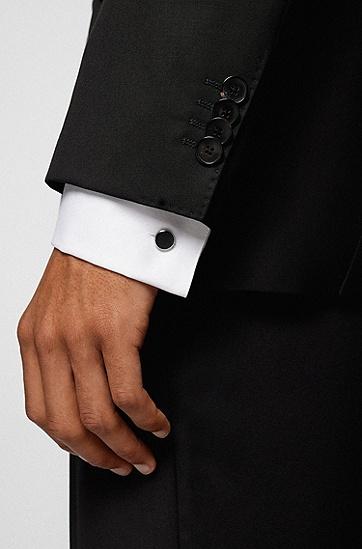 不锈钢双面袖扣,  001_Black
