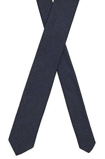 可溯源羊毛意大利制造无衬领带,  405_Dark Blue