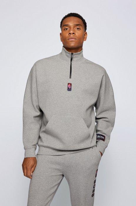 Felpa con colletto con zip BOSS x NBA con logo della collaborazione, NBA Generic
