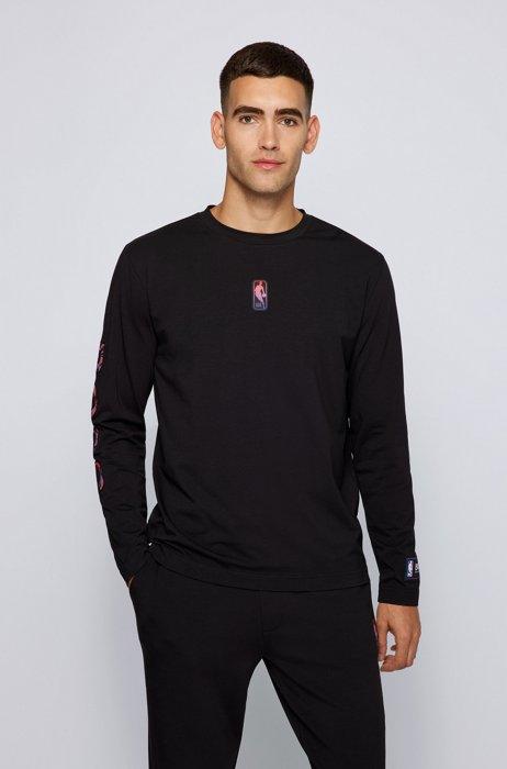 Maglia a maniche lunghe BOSS x NBA con logo colorato, NBA Generic