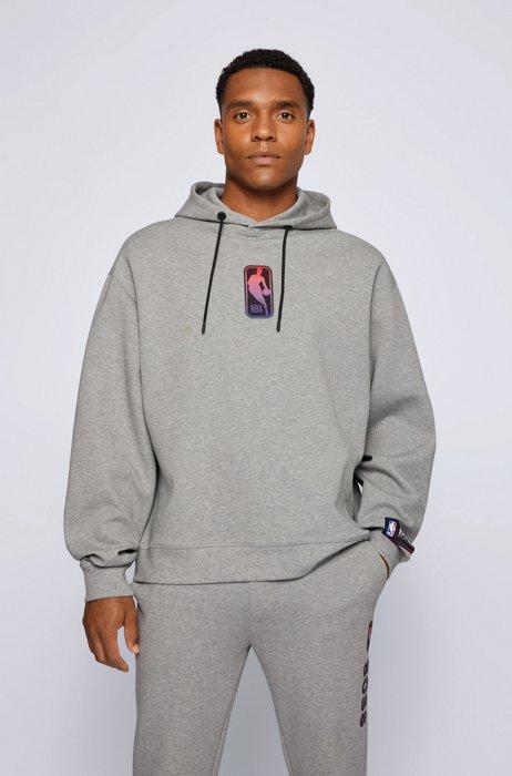 BOSSxNBA Hoodie aus Baumwoll-Mix mit abgestimmten Logos, NBA Generic