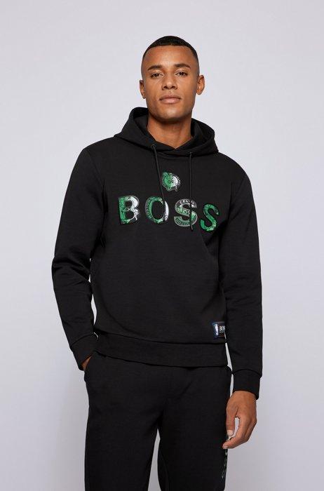 BOSS x NBA cotton-blend hoodie with colorful branding, NBA CELTICS
