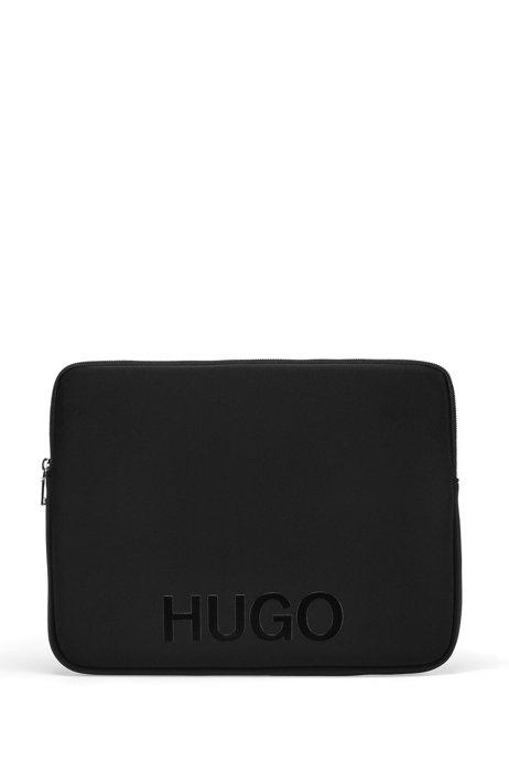 Neoprene laptop case with logo, Black