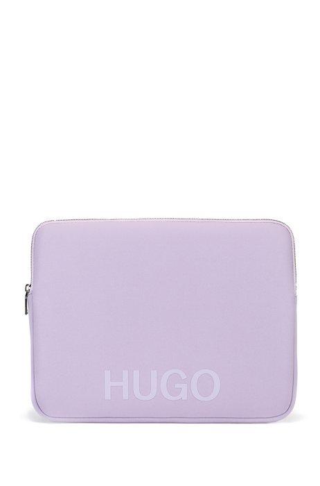 Neoprene laptop case with logo, Purple