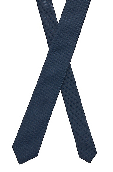 抗皱提花面料微图案领带,  404_Dark Blue