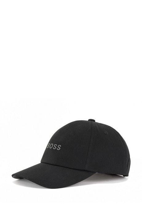 Cotton-twill cap with raised logo, Black