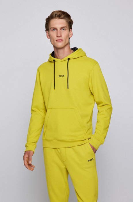 Relaxed-fit hooded sweatshirt with logo detailing, Yellow