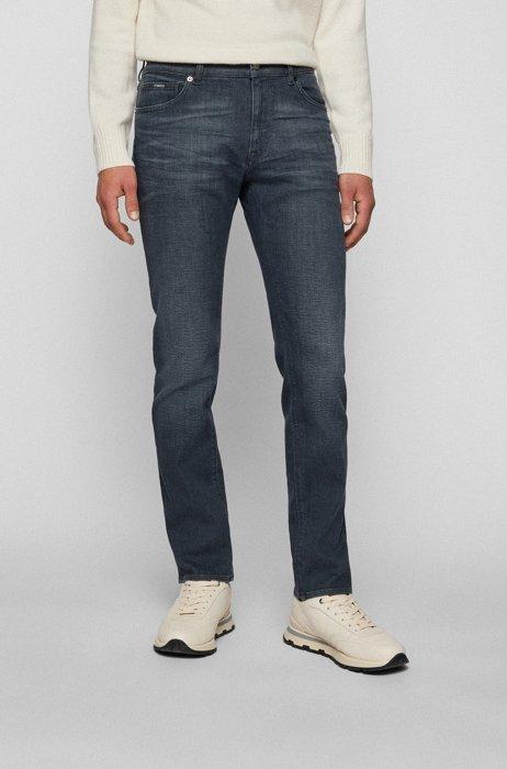 Graue Regular-Fit Jeans aus besonders softem Stretch-Denim, Grau
