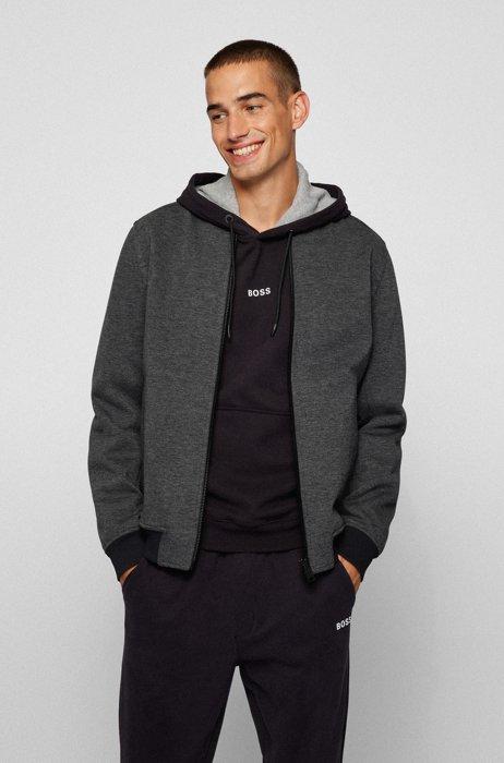 Regular-fit jacket in Italian fabric, Grey
