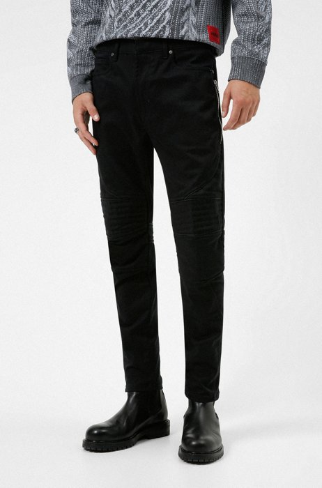 Extra-slim-fit jeans in stay-black comfort-stretch denim, Black