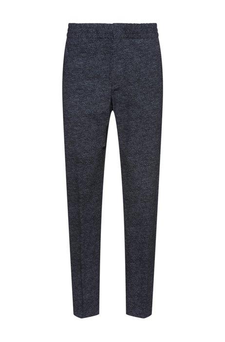 Pantaloni extra slim fit ripiegabili in tessuto elasticizzato ad alte prestazioni, Grigio scuro