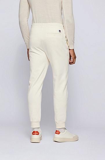 专属徽标装饰棉质混纺运动裤,  118_Open White